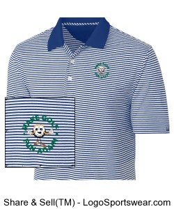 Cutter & Buck Polo CB Drytec Trevor Stripe In Big and Tall Sizes Design Zoom